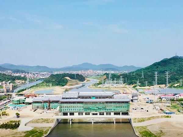 公司大型水泵机组助力姚江上游西排工程成功试运行